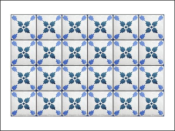 Toutes ces photos ont été prises dans les rues de Lisbonne et reproduisent les Azulejos qui ornent les murs de la ville.